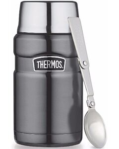 Thermos: Vacuum Insulated Stainless Steel King Food Jar 710ml (Grey) (SK3021) - 22% OFF!!