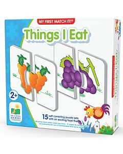 The Learning Journey My First Match It! Things I Eat - 15% OFF!!