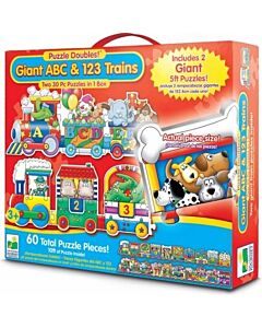 The Learning Journey Puzzle Doubles, Giant ABC and 123 Train Floor Puzzles - 10% OFF!!