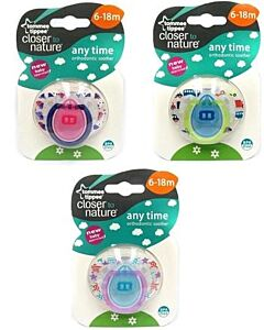 Tommee Tippee: Closer to Nature Any Time Orthodontic Soother (6-18 mths) (Assorted - 1pk) - 22% OFF!!