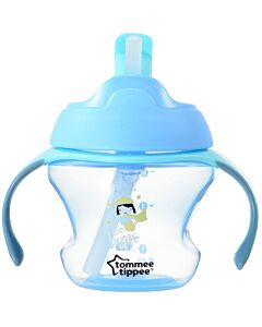 Tommee Tippee: First Straw Cup 150ml (9M+) - Blue - 26% OFF!