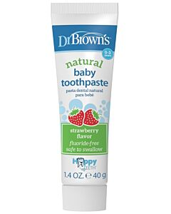 Dr. Brown's: Natural Baby Toothpaste (Fluoride-Free) - Strawberry - 10% OFF!!