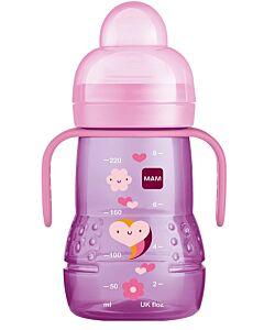 MAM Trainer+ 220ml/8oz (Spill-free Extra Soft Spout) (4+ Months) - Pink