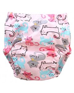 Earth Bebe: Baby Training Pants - Pink Cat