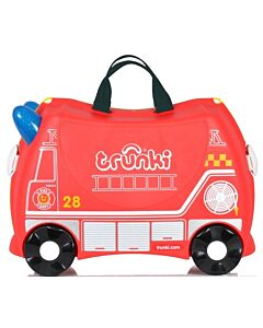 Trunki Ride-On Little Luggage for Little People - Frank Firetruck - 20% OFF!