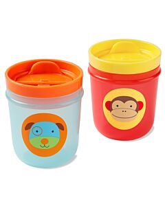 Skip Hop: Zoo Tumbler Cups - Monkey & Dog - 14% OFF!!