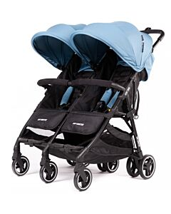 Baby Monsters | Kuki Twin Stroller (Birth to 15kg / each seat) - Atlantic - 20% OFF!! - PREORDER