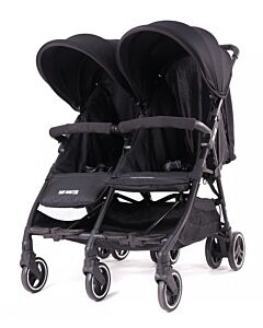 Baby Monsters | Kuki Twin Stroller (Birth to 15kg / each seat) - Black - 20% OFF!! - PREORDER
