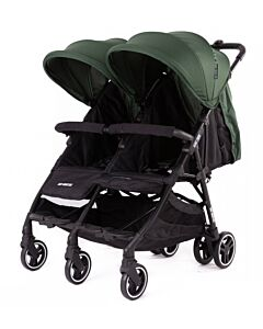 Baby Monsters | Kuki Twin Stroller (Birth to 15kg / each seat) - Forest - 20% OFF!! - PREORDER