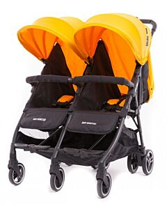 Baby Monsters | Kuki Twin Stroller (Birth to 15kg / each seat) - Mango - 20% OFF!! - PREORDER