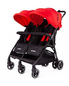 Baby Monsters | Kuki Twin Stroller (Birth to 15kg / each seat) - Red - 20% OFF!! - PREORDER
