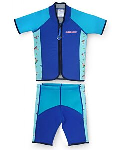 Cheekaaboo Twinwets Suit - Navy Blue / Surfer - XL (6-8y) - 20% OFF!!