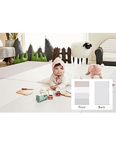 ALZiP® Mat Baby Foldable Silion Playmat   Size S (200*120*4cm) - Urban GreyPink