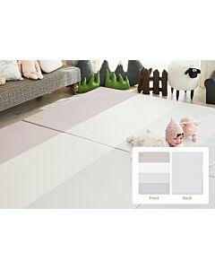 ALZiP® Mat Baby Foldable Silion Playmat   Size XG (280*140*4cm) - Urban GreyPink