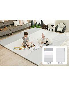 ALZiP® Mat Baby Foldable Silion Playmat   Size XG (280*140*4cm) - Urban MilkGrey
