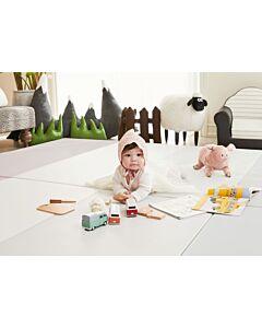 ALZiP® Mat ECO Color Folder   Size G (200*140*4cm) - Urban GreyPink