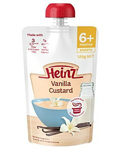 Heinz: Simply Vanilla Custard Pouch 120g (From 6+ Months)
