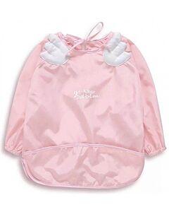 Earth Bebe: PEVA Waterproof Bib with Sleeve - Pink