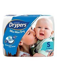 Drypers Wee Wee Dry S82 (3-7kg) - Mega Pack - 25% OFF!