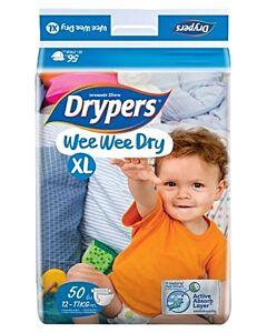 Drypers Wee Wee Dry XL50 (12-17kg) - Mega Pack - 25% OFF!