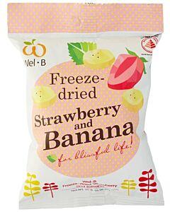 Wel.B Freeze Dried Snacks - Strawberries & Banana - 12% OFF!!