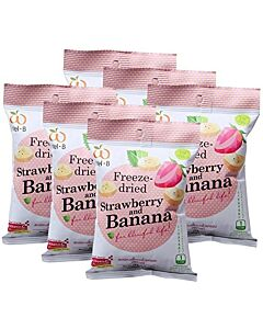 Wel.B Freeze Dried Snacks - Strawberries & Banana - 6 PACKS! - 13% OFF!!