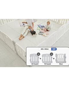 ALZiP® Mat Baby Room   Size S 10pcs (207*127*65cm) - Plain White