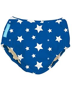 Charlie Banana: Reusable 2-in-1 Swim Diapers and Training Pants White Stars On Blue - L - 25% OFF!!