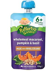 Rafferty's Garden: Wholemeal Macaroni, Pumpkin & Basil 120g (6+ Months) - 14% OFF!!