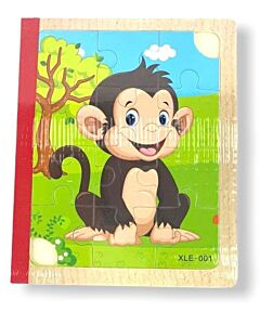 Funny Kid's: Wooden Book Puzzle - Domestic Animals - 10% OFF!!