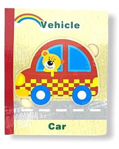 Funny Kid's: Wooden Book Puzzle - Vehicle - 10% OFF!!