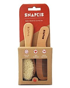 Snapkis: Baby Wooden Brush & Comb Set - 20% OFF!!