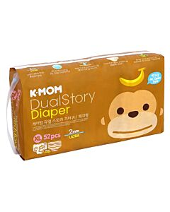K-MOM Dual Story Diaper XL 52pcs (Up to 12kg) - 10% OFF!!