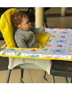 Poppy Seat: Pop-Up High Chair Cover - Yellow Animals - 20% OFF!!