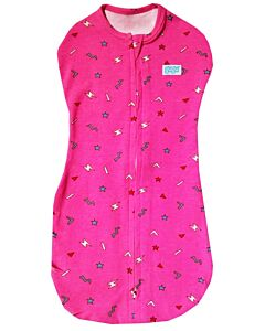 Gugu Premium Zipped Swaddle - Pink Flash