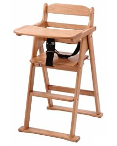 Funbies: Zoey Foldable Wooden High Chair - 6% OFF!!