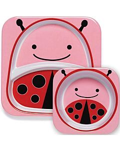 Skip Hop: Zoo Melamine Plate and Bowl Set - Ladybug - 15% OFF!!