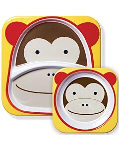 Skip Hop: Zoo Melamine Plate and Bowl Set - Monkey - 15% OFF!!