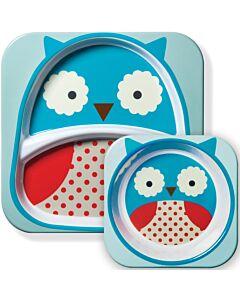Skip Hop: Zoo Melamine Plate and Bowl Set - Owl - 15% OFF!!