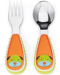 Skip Hop: Zootensils Fork & Spoon Set - Dog - 17% OFF!!