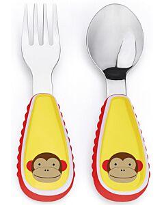 Skip Hop: Zootensils Fork & Spoon Set - Monkey - 17% OFF!!