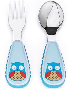 Skip Hop: Zootensils Fork & Spoon Set - Owl - 17% OFF!!
