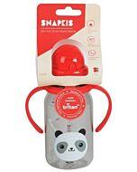 Snapkis: Straw Water Bottle 350ml | Panda - 30% OFF!!