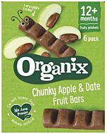 Organix Goodies Date & Apple Chunky Fruit Bars (6pack x 17g)