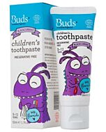 Buds Oralcare Organics: Children's Toothpaste Blackcurrant With Fluoride - 50ml (3 - 12 Years) - 15% OFF!!