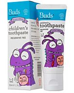 Buds Oralcare Organics: Children's Toothpaste Blackcurrant with Xylitol - 50ml (1 - 3 years) - 15% OFF!
