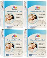 Bubbles: Disposable Breast Pads (Honeycomb NEW) (60pcs + FREE 12pcs) x 4 PACKS - 35% OFF!!