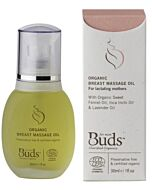 Buds Cherished Organics For Mum: Organic Breast Massage Oil 30ml -15% OFF!