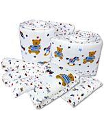 Bumble Bee: 7pcs Crib Bedding Set (Knit Fabric) - Fun Times - 30% OFF!
