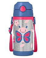 Skip Hop: Zoo Insulated Stainless Steel Straw Bottle (12.2oz/360ml) - Butterfly - 20% OFF!!
